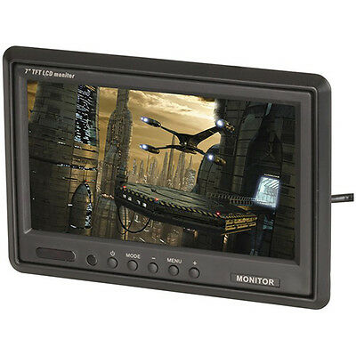 """7"""" TFT LCD Widescreen Colour Monitor with IR Remote"""