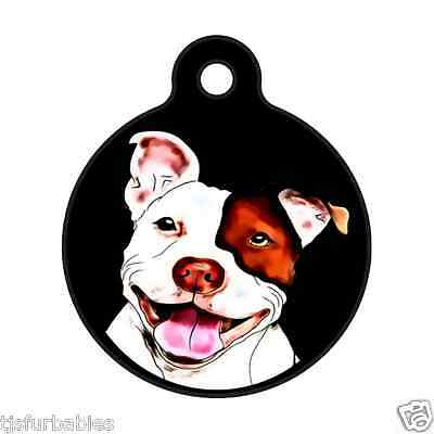 Pitbull Smiles-Pit bull Custom Personalized Pet ID Tag for Dog and Cat Collars
