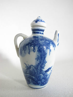Keramik Snuff Bottle China signiert 7cm hoch