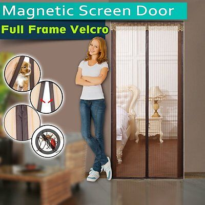 Magnetic Screen Door,Instant Bug Mesh,Close Automatically Tightly, Appiness-4883