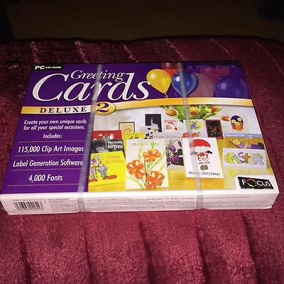 GREETING CARDS DELUXE 2 pc cd rom new and sealed
