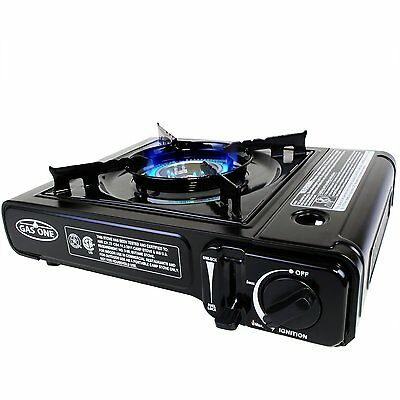 GasOne GS-3000 Portable Gas Stove with Carrying Case, 9000 BTU, Black, (GS-3000)