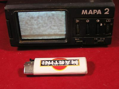 "Vintage portable automobile TV USSR 12V working CRT tube ""MARA-2"""