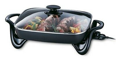 Presto 06852 16-Inch Electric Skillet with Glass Cover Deluxe nonstick surface