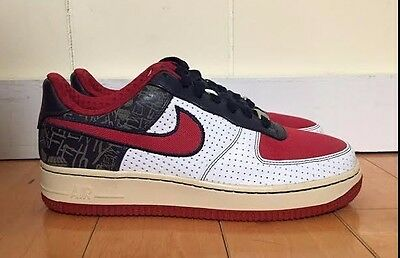 VINTAGE NIKE AIR FORCE II 2 RED WHITE MAIZE 2005 GS KIDS SZ 4-7 Y  310470-621