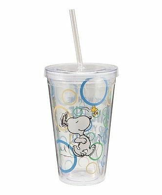 Peanuts Snoopy Stick With Me 18 oz Acrylic Travel Cup NEW