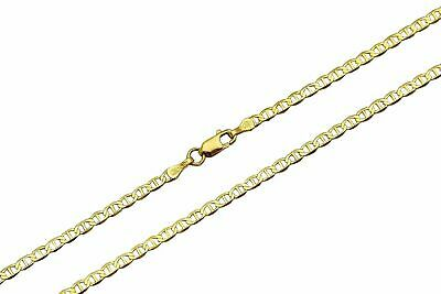 Authentic 10k Solid Yellow Gold 1.5mm Mariner Link Chain Necklace Sz 16-36