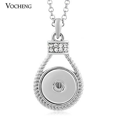 10pcs/lot Vocheng Snap Jewelry Pendant Necklace Stainless Steel Chain NN-044*10