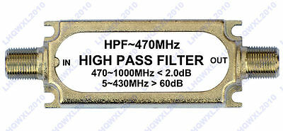 CATV High pass Filter F type connector HPF ~470MHZ 75ohm