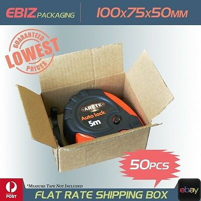 50 Shipping Box 100x75x50mm Small Slotted Carton Mailing Cardboard Boxes CB8