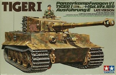 Tamiya 35146 1/35 Model Kit WWII German Heavy Tank Panzer VI Tiger I Ausf.E