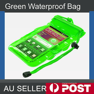 Green Waterproof Pouch Drg Bag Case Protector for Mp3 Cell Mobile phone Wallet