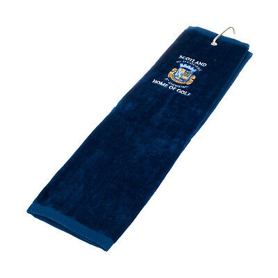Scottish Golf Towel - The Old Course - St Andrews - Blue - Great Golf Gift!