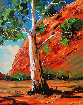 Large Abstract Trees Modern Landscape Outback painting Wall art on Canvas