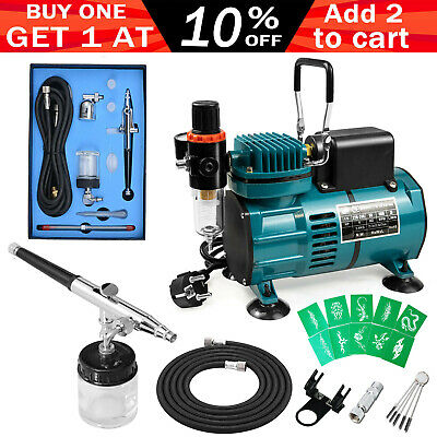 7cc&22cc Airbrush Dual Action Air Brush Gun Compressor Hose Spray Nail Art Kit