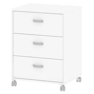 Connect 3 Drawer Mobile Cabinet Finish: White