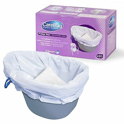 Cleanis CareBag Commode Liner (Pack of 20)