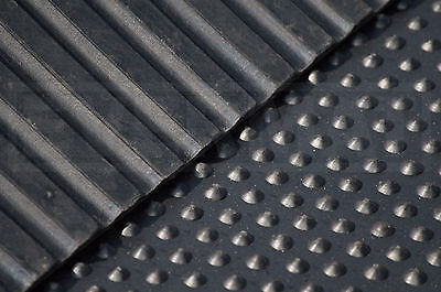 Cobbled Top 18mm Heavy Duty Natural Rubber Horse Stable Mats 6ftx4ft - UK STOCK