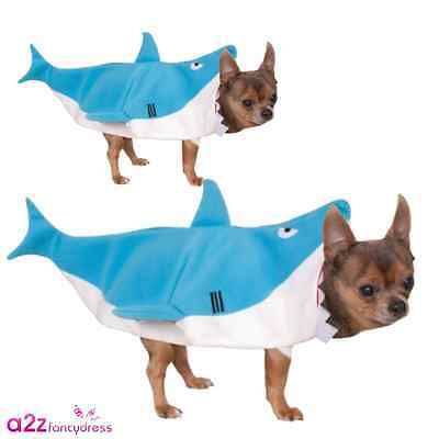 Blue Shark Jaws Dog Puppy Cat Pet Halloween Novelty Gift Funny Costume Outfit