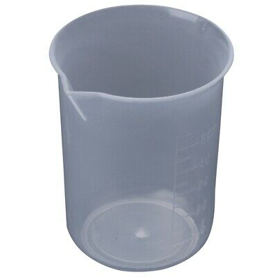 50mL Graduated Beaker Clear Plastic Measuring Cup for Lab 2 Pcs AD