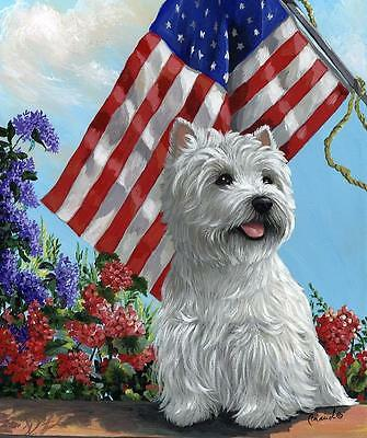 Westie Whwt Summer Garden Flag Free Ship Usa