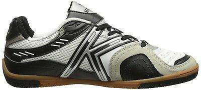 97ba8db06 Kelme Star 360 Michelin Mens Leather Indoor Soccer Shoes White   Black