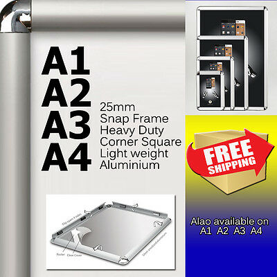 A0 A1 A2 A3 A4 PREMIUM Aluminum Snap poster frame Sign holder wall mount