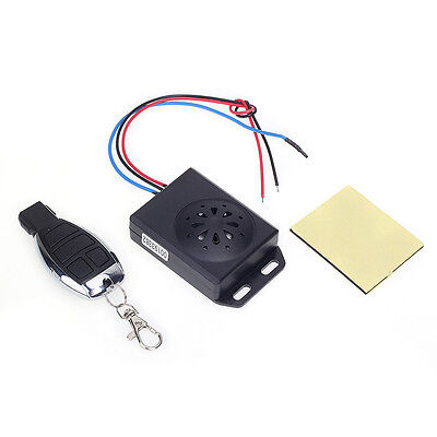 DC 12V Motorcycle Alarm Motorbike Security System Anti-theft + 4 Button Remote