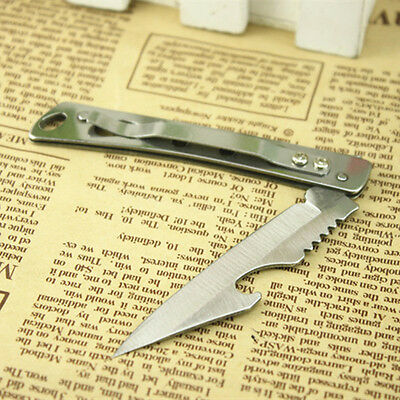 Portable EDC knife Stainless steel Pocket folding knife Clip Buckle Beer Opener