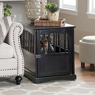 Casual Home Pet Crate End Table, 24-Inch in Black Finish 600-42 New