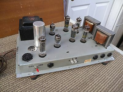 PHILCO tube stereo power amp with home made. Rare & ready to use w/tested
