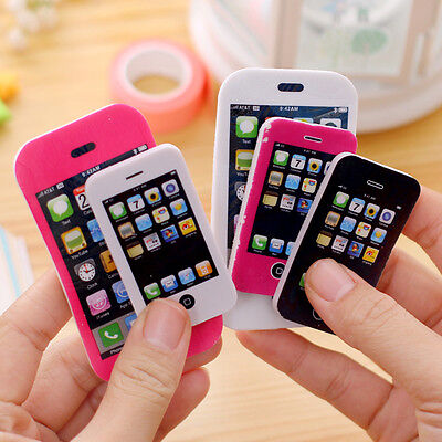iPhone Shaped Rubber Pencil Eraser Fun Gift Toy Students Creative Stationery