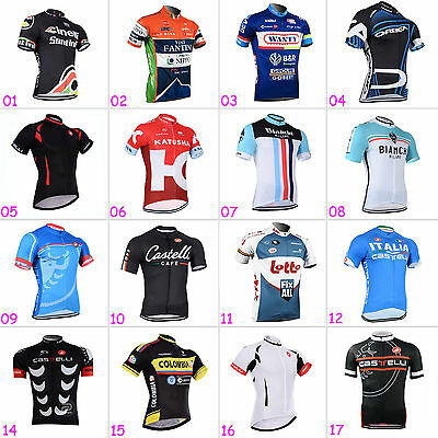 New Mens Riding Clothes Polyester Cycling Tops Wear Jerseys Short Sleeve Shirt