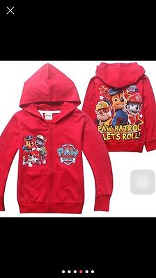 Paw Patrol Lets Roll Dogs Hoodie Clothing Jacket Size 3