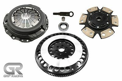 Grip Racing Stage 3 Clutch & 12Lbs Flywheel Kit For Nissan 240Sx Ka24De 2.4L