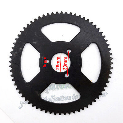 ATV Quad 25H 68 Tooth Rear Chain Sprocket For 47cc 49cc Pocket Bike Mini Moto