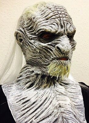 White Ice Zombie Walker Game Mask Halloween Latex Thrones Fancy Dress Costume