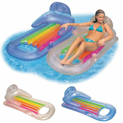 Swimming Pool Sea PVC Inflatable Lounger Air Bed Float Chair for adults,Children