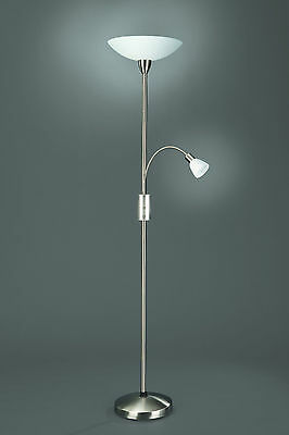 Philips Lighting - Floor Lamp Uplighter with Flexi Arm, Brushed Chrome.