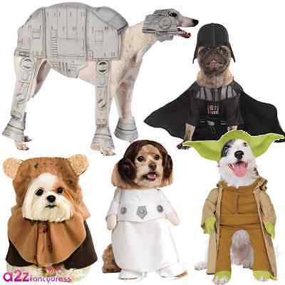 Star Wars Pet Dog Fancy Dress Costume Halloween Darth Vader Leia Ewok Yoda Party