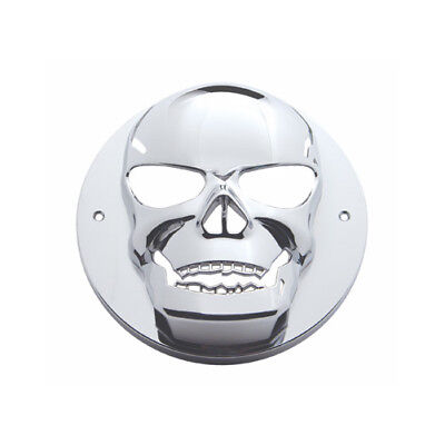 "Round Chrome Skull Bezel / Covers 2"" LED Side Marker Clearance Light"