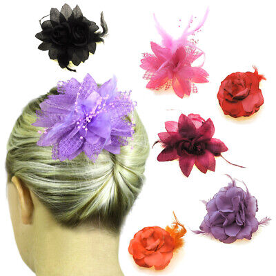Wedding Hair Fascinators Flowers Bridal Accessories Ladies Head Hair Pieces Clip