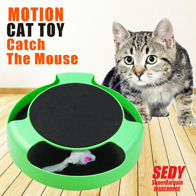 Electronic Cat Toy Fabric Cat's Meow Undercover Fabric Moving Mouse Fun AU Stock