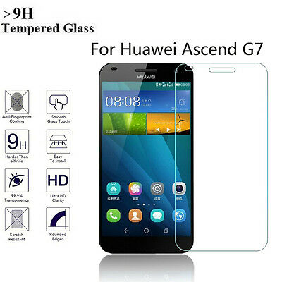 100% Genuine Real Tempered Glass Screen Protector Film for Huawei Ascent G7