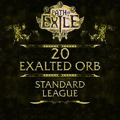 Path of Exile | PoE | 20 Exalted Orb - Standard League SC | Softcore