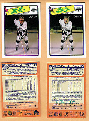 1988-89 OPeeChee Wayne Gretzky Regular Card #120, PLUS the Forgery For Reference