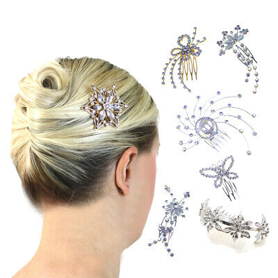 Head Jewellery Hair Combs Ladies Wedding Accessories Crystal Slides Clips Pieces