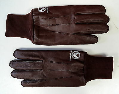 Usaaf Type A-10 Pilot Leather Flying Gloves W/labels- Sz Large