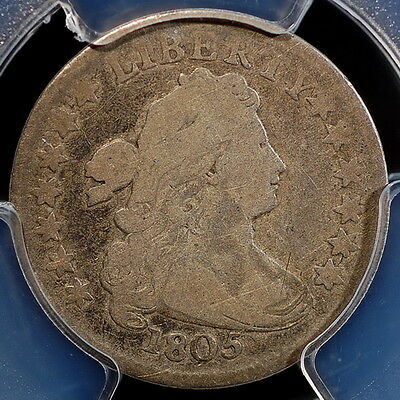 1805 Draped Bust Dime 10C (4 Berries) PCGS VG08