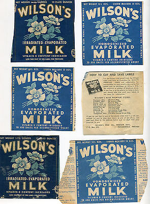 Vintage Lot 52 Wilson'S Milk Irradiated Homogenized Labels Coupons More